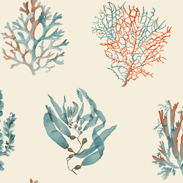Seaweed Wallpaper - Cream