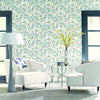 Modern Artisan Flourish Wallpaper in Black