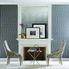 Modern Artisan Plaza Wallpaper in Blue
