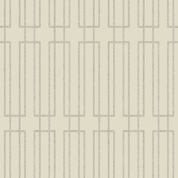 Modern Artisan Terrace Wallpaper in Creme/beige