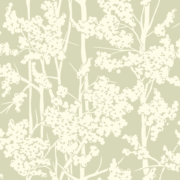 Modern Artisan Haven Wallpaper in Green
