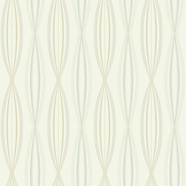 Modern Artisan Sonnet Wallpaper in Blue