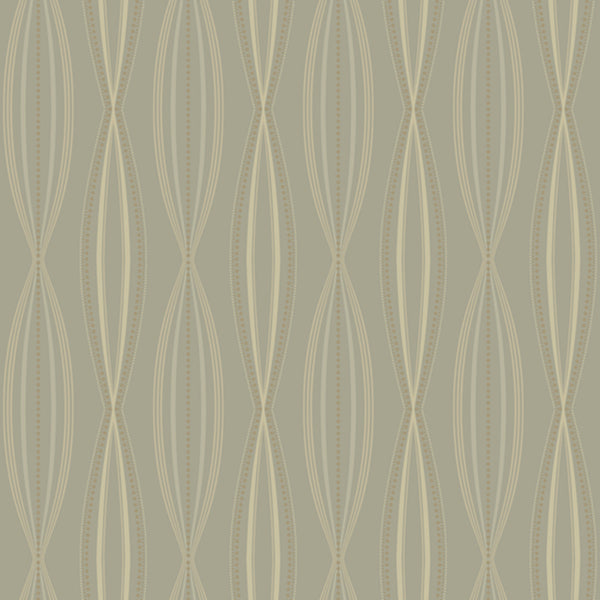 Modern Artisan Sonnet Wallpaper in Grey/silver