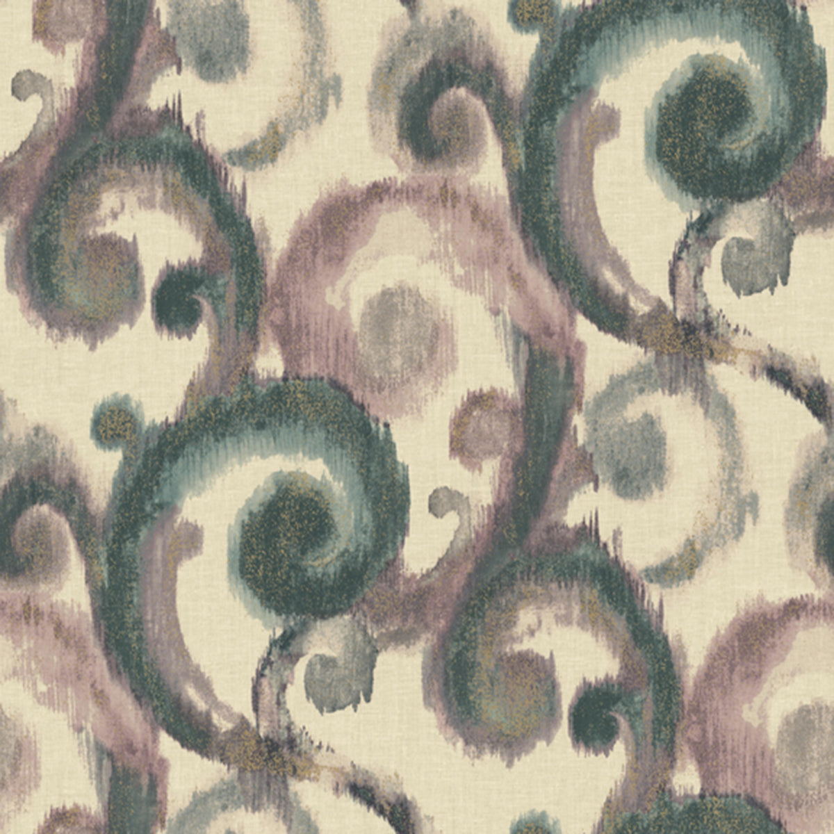 Modern Artisan Arabesque Wallpaper in Creme/beige