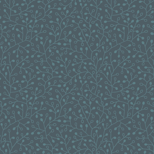 Candice Olson Intrigue Wallpaper - Navy W, Iridescent