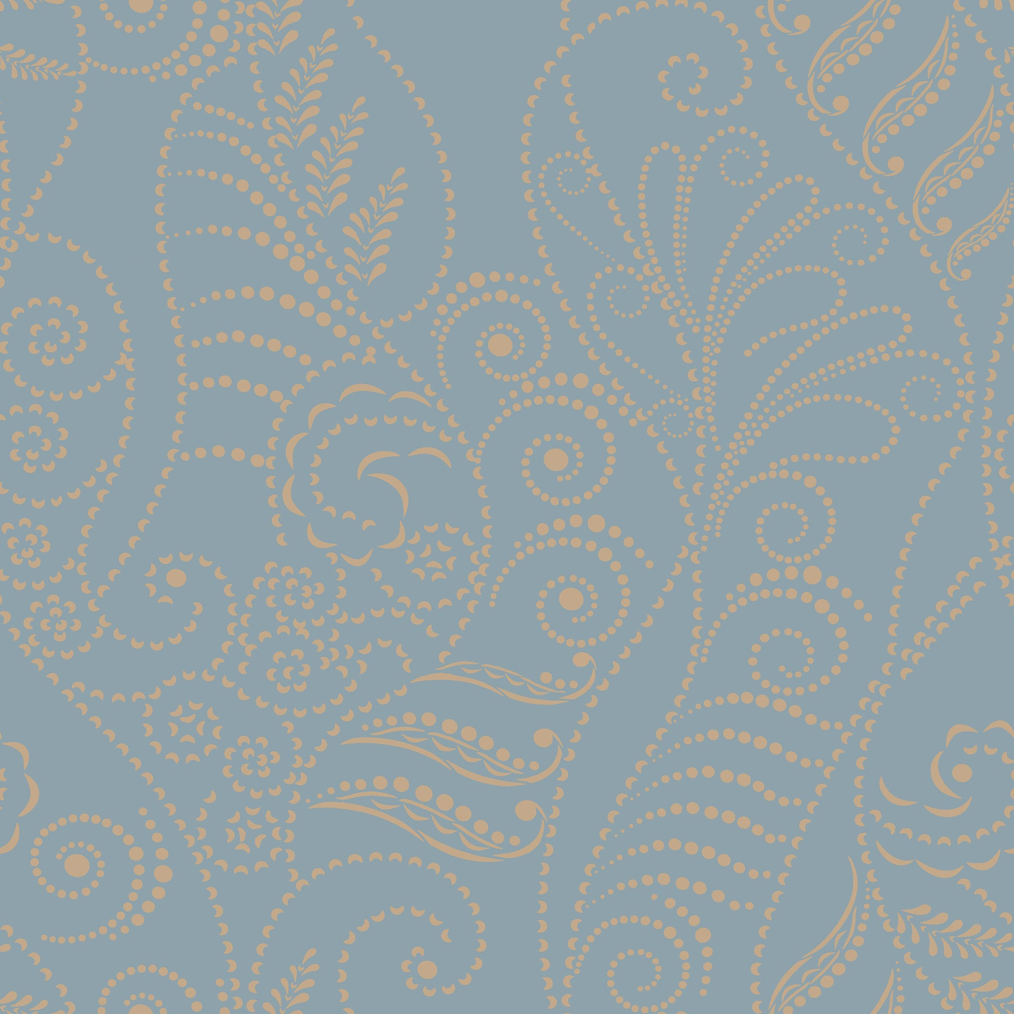 Candice Olson Modern Fern Wallpaper - Gold On Denim