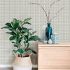 Rattan Overlay Lattice Wallpaper