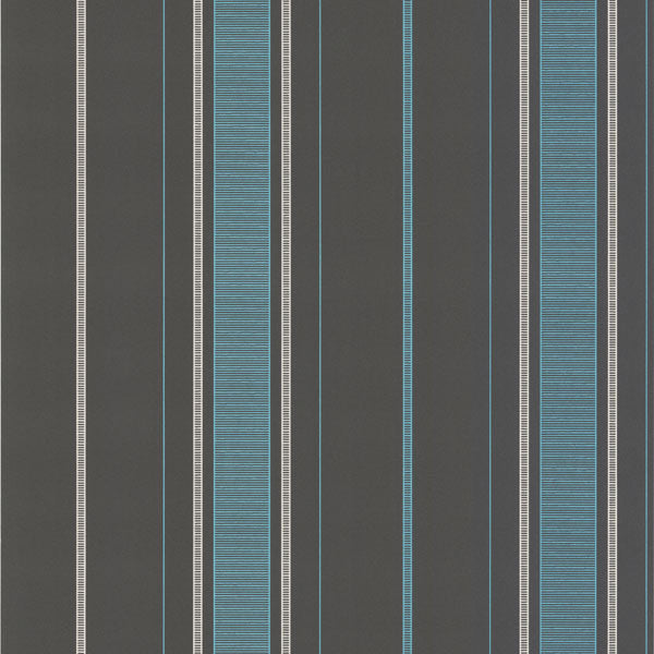 Gavin Aqua Stripe Wallpaper