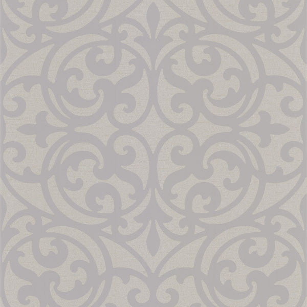 Sonata Grey Ironwork Wallpaper