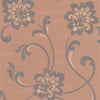 Sharon Copper Jacobean Floral Wallpaper