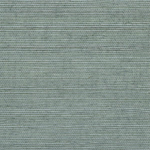 Wisteria Blue Grasscloth Wallpaper