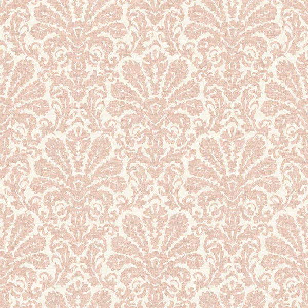 Seascape Salmon Damask Wallpaper