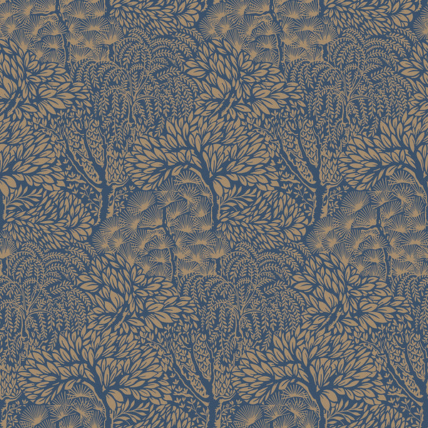 Dwell Studio Miyuki Wallpaper - Blues in Blue