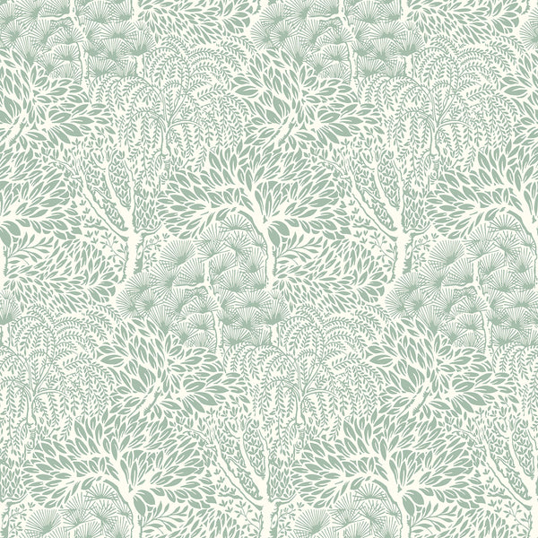 Dwell Studio Miyuki Wallpaper - Greens in Green