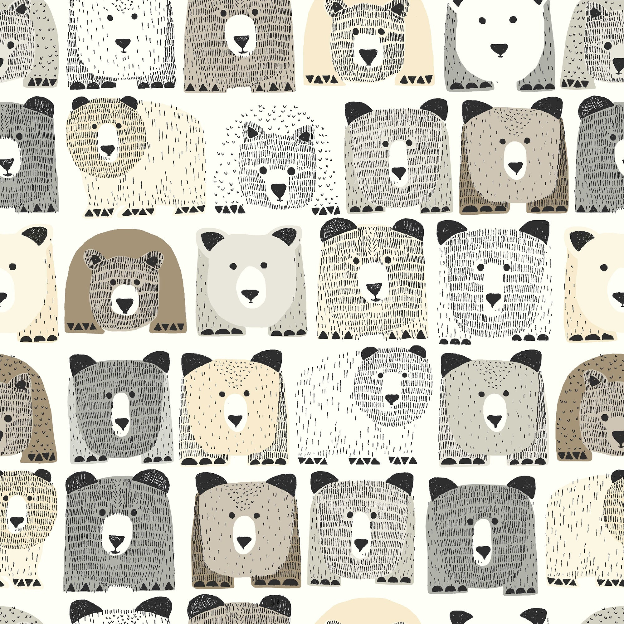 DwellStudio Baby , Kids Bears Sidewall