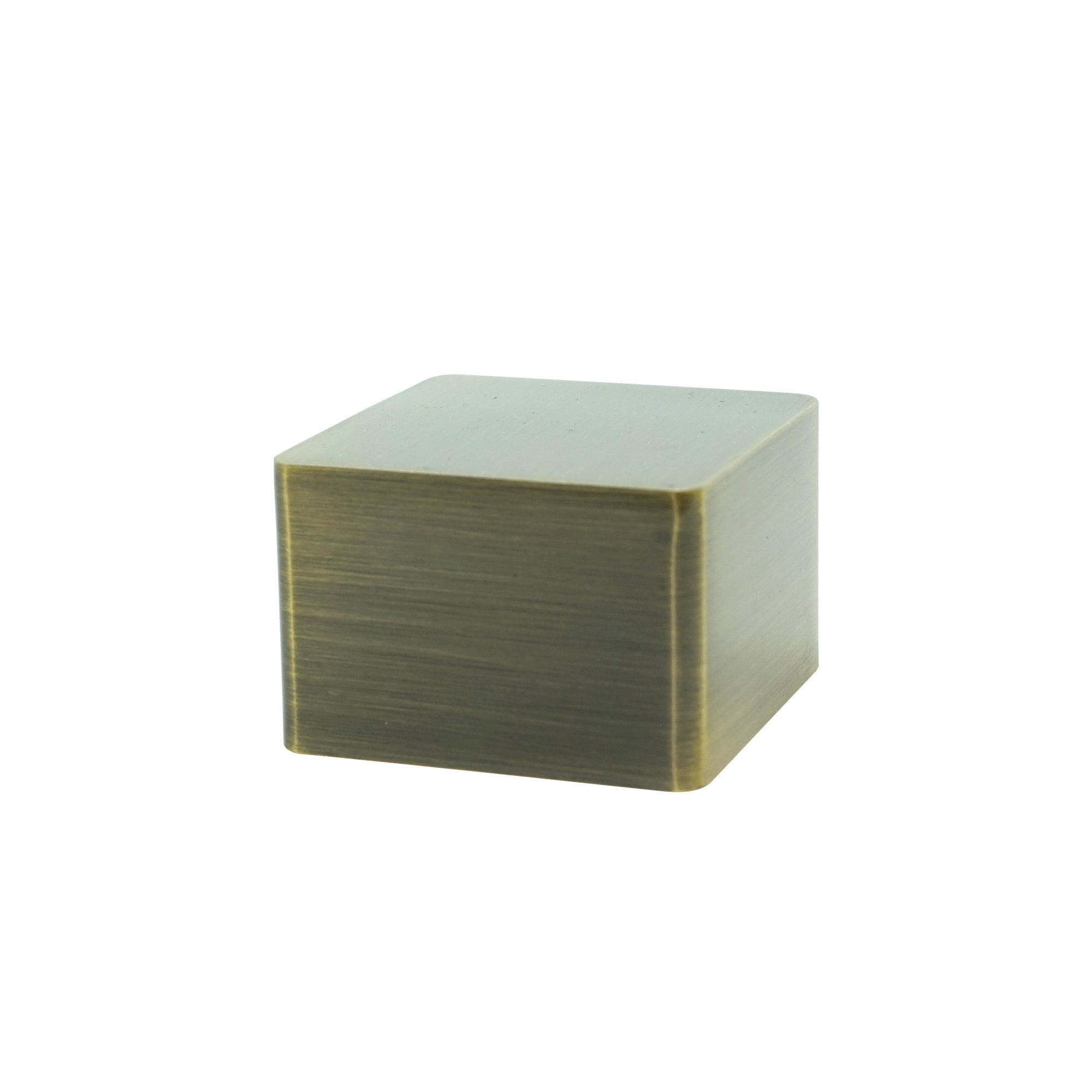 Square Metal Endcap - Antique Brass Finish