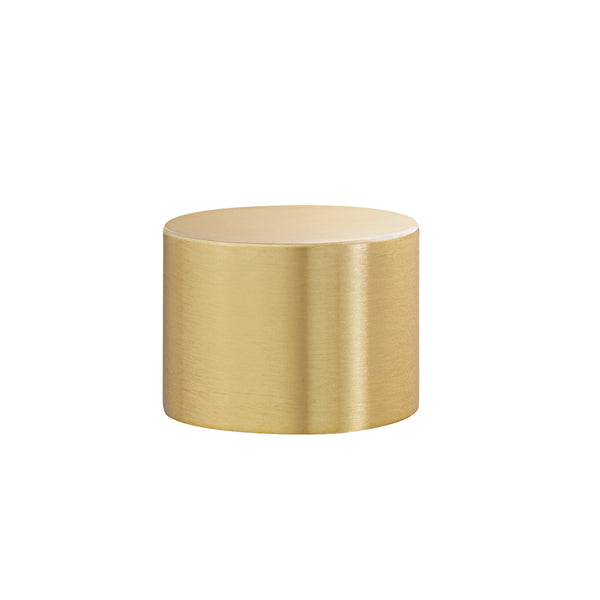 Metal Cylinder End Cap - Brass For 1