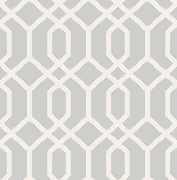 Trellis Grey Montauk Wallpaper