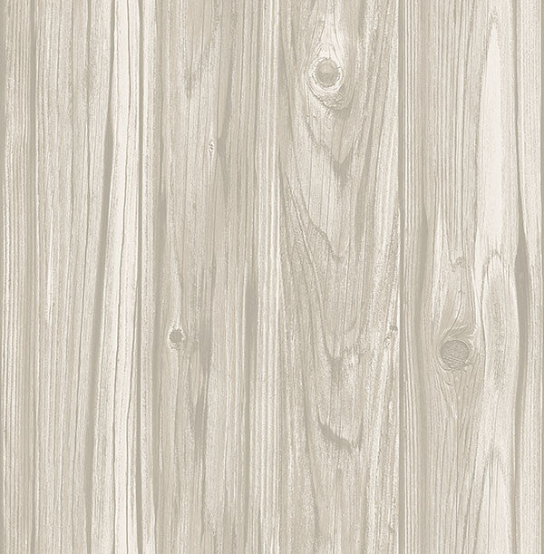 Paneling Grey Wide Plank Wallpaper