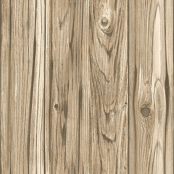 Paneling Brown Wide Plank Wallpaper