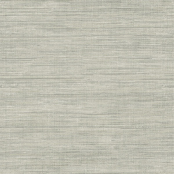 Island Grey Faux Grasscloth Wallpaper
