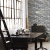 Painted Grey Brick Wallpaper