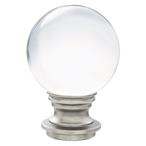 Acrylic Ball Finials - Antique Pewter