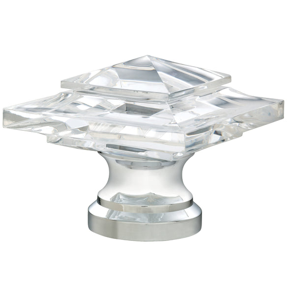 Acrylic Square Finials - Mirrored Chrome