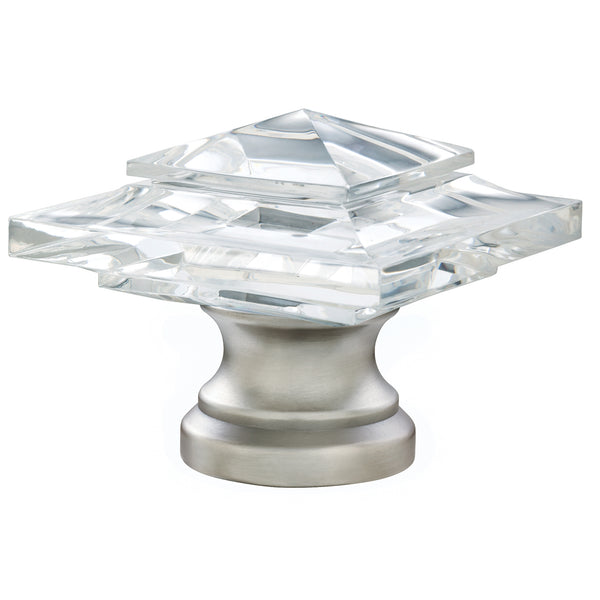 Acrylic Square Finials - Antique Pewter