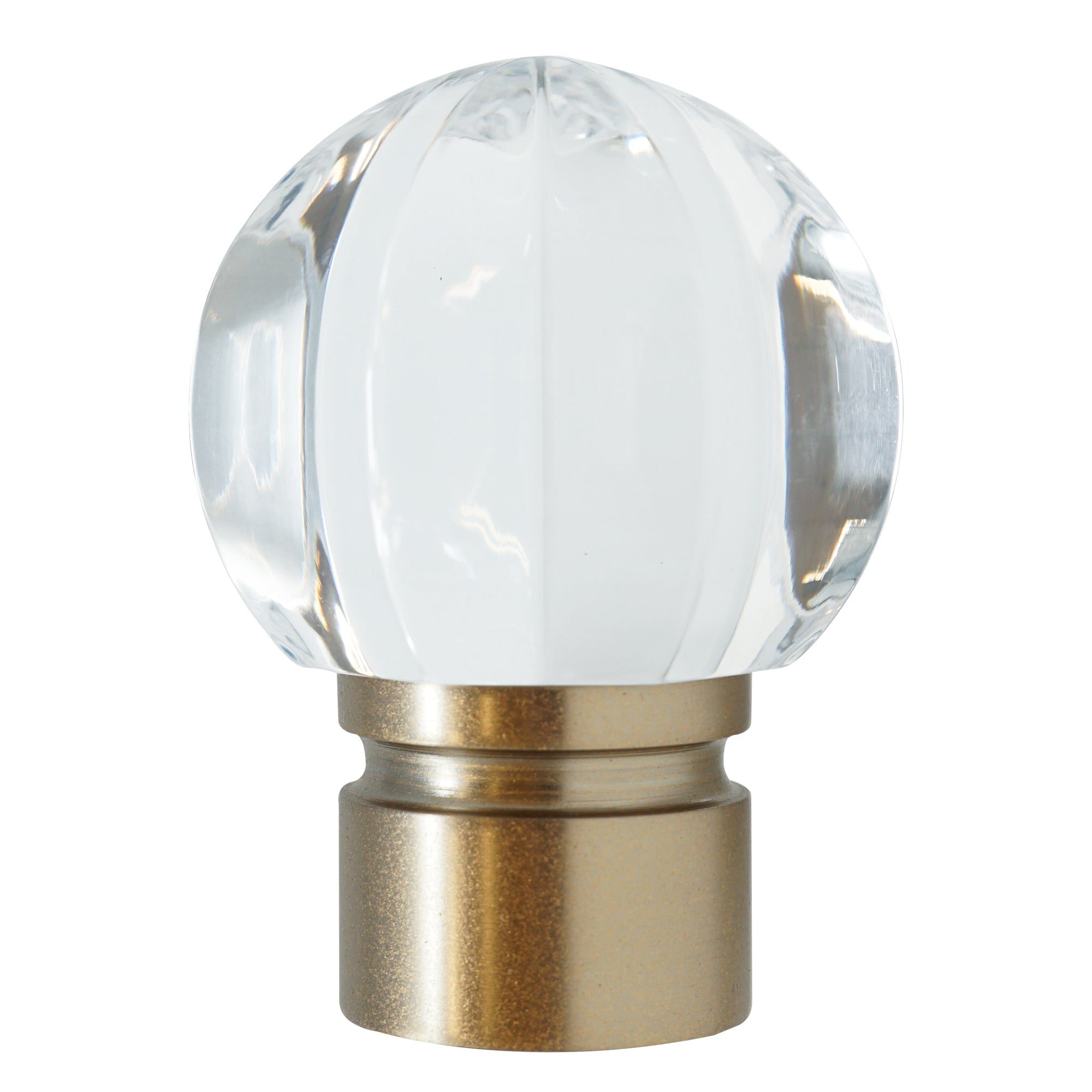 Acrylic Ball Finial - Rose Gold Finish