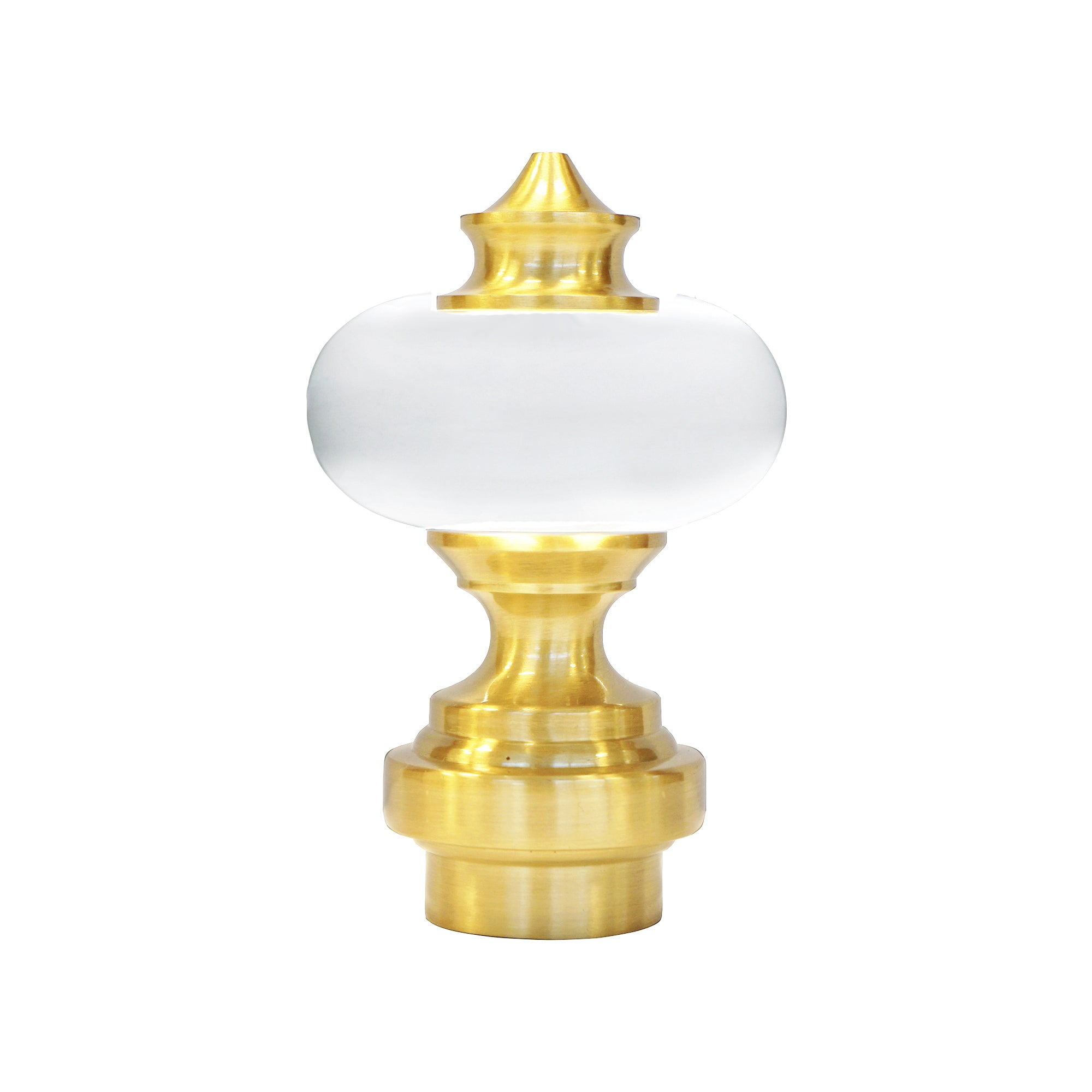 Acrylic/Metal Finials - Brass
