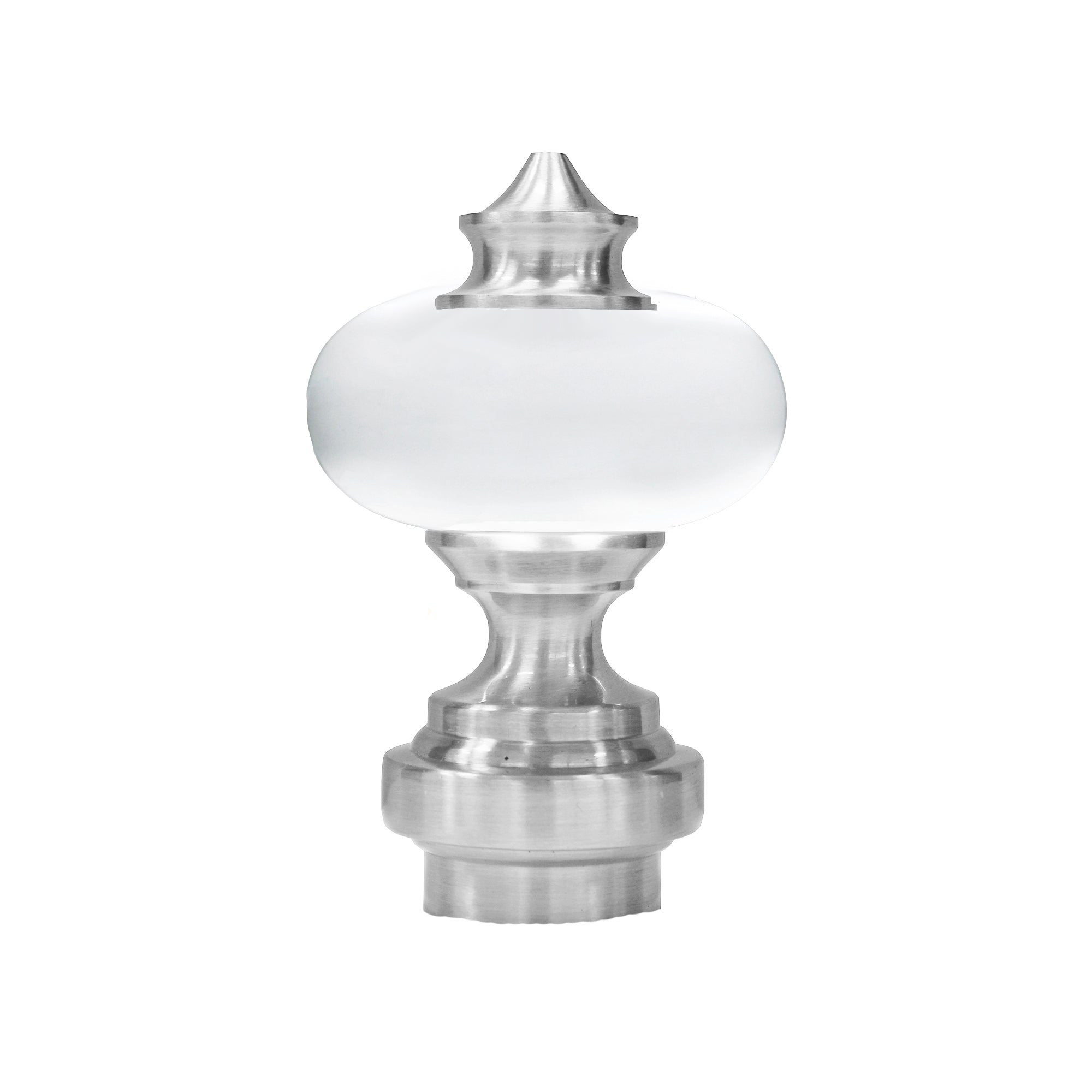 Acrylic/Metal Finials - Antique Pewter