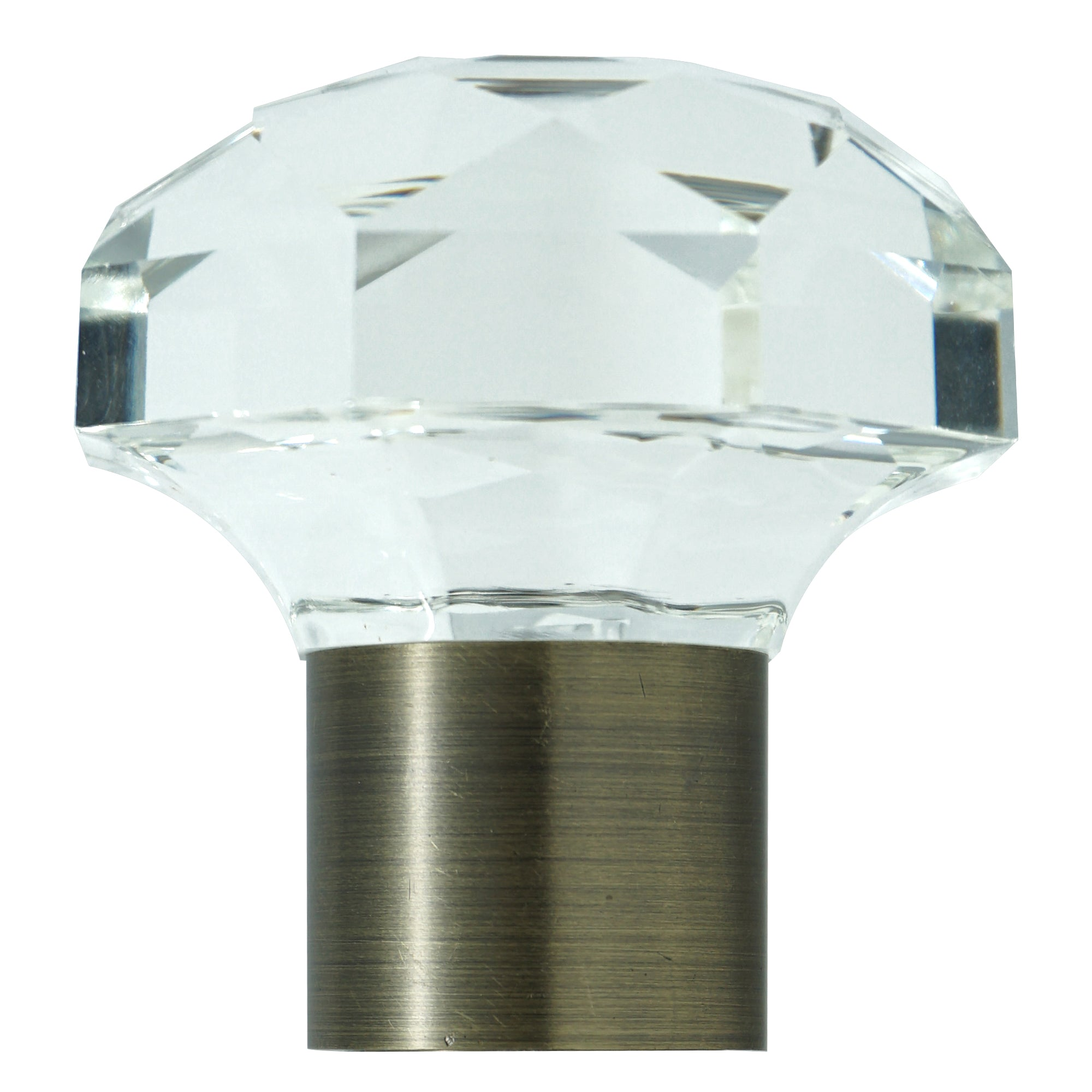 Glass Finial - Antique Brass Finish