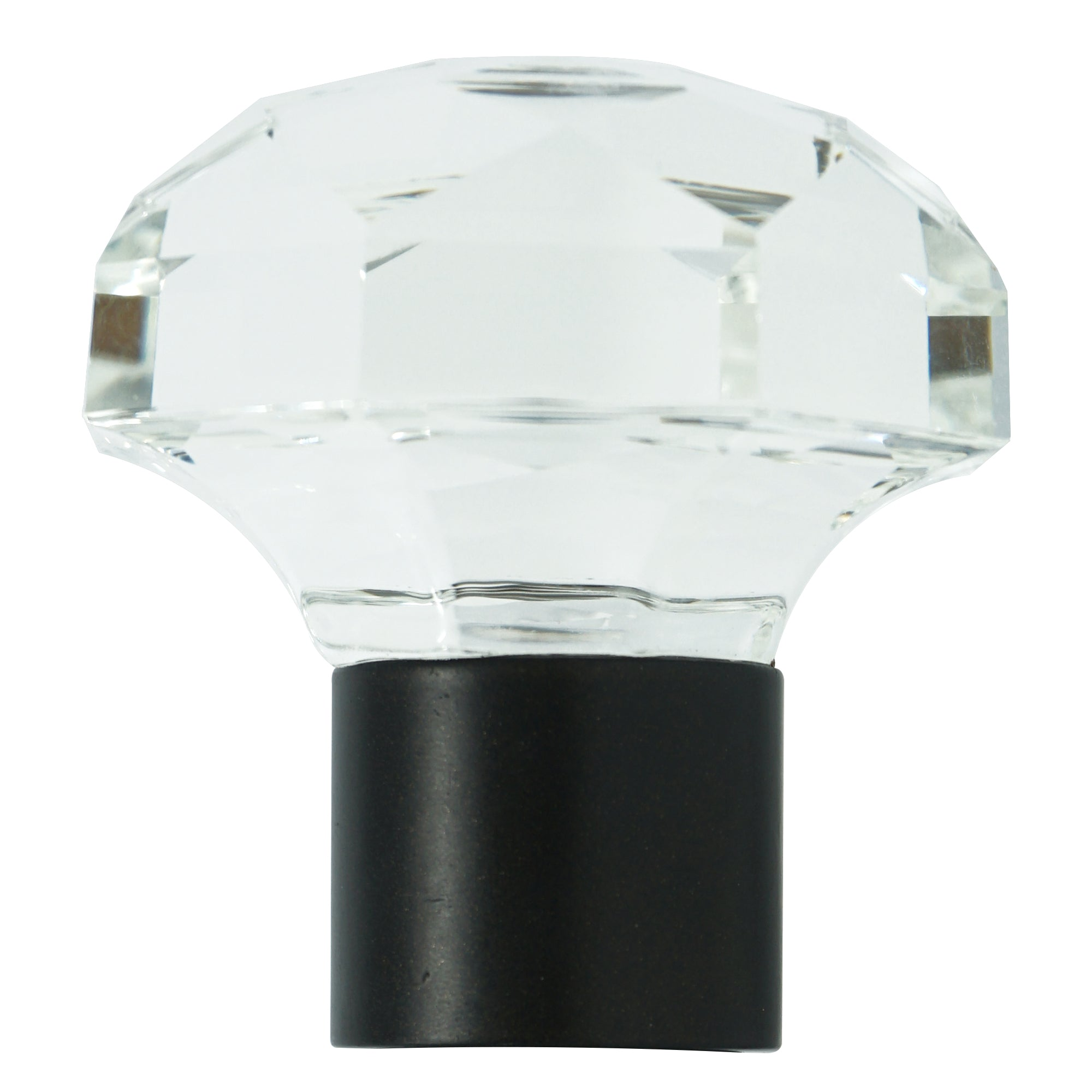 Glass Finial - Oil Rubbed Bronze Finish