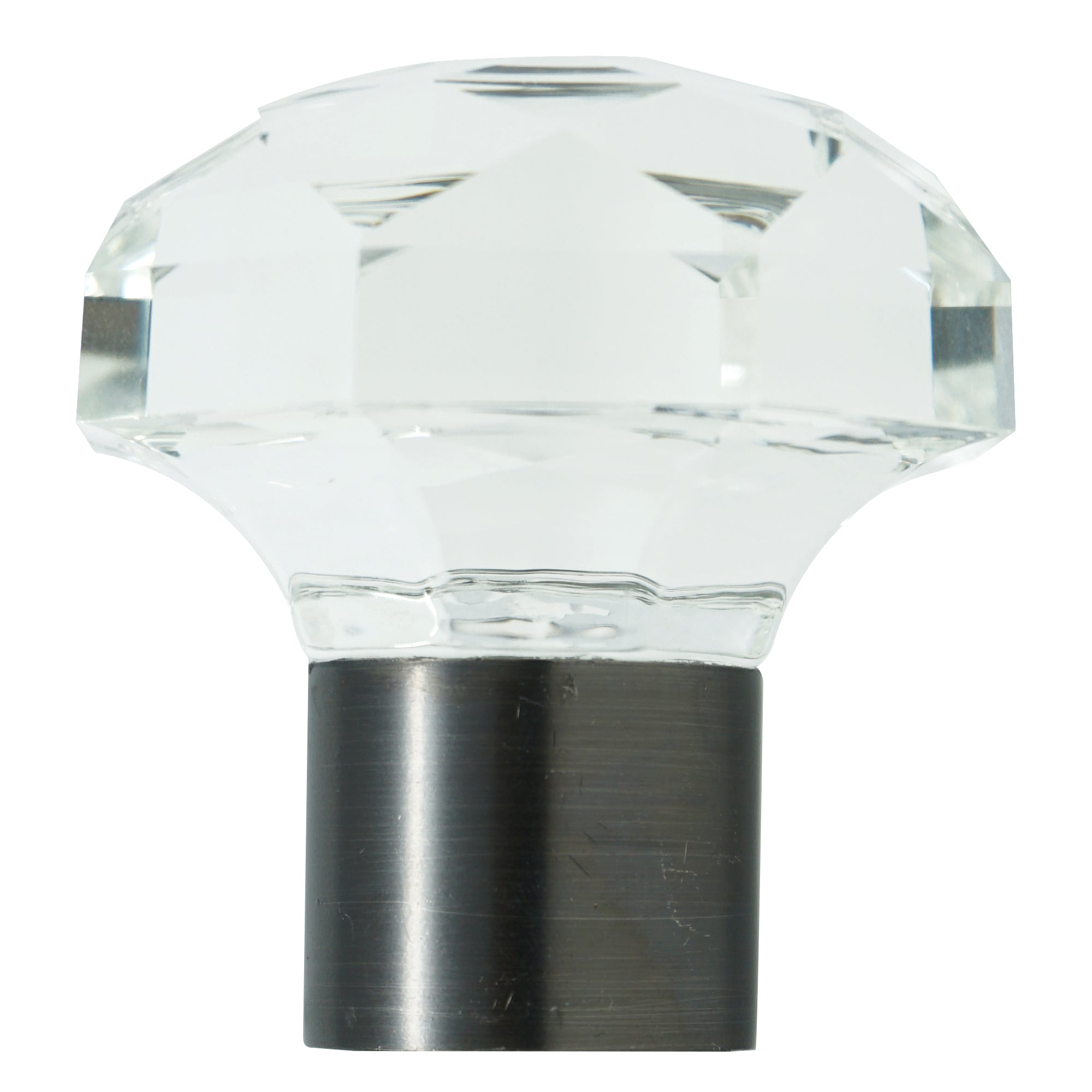 Glass Finial - Gun Glass Finish