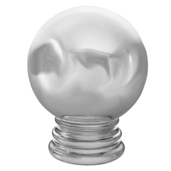 Metal Ball Finials - Mirrored Chrome