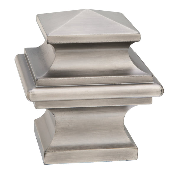 Metal Square Finials - Antique Pewter
