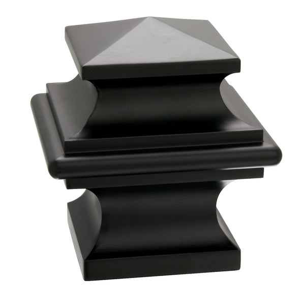 Metal Square Finials - Black