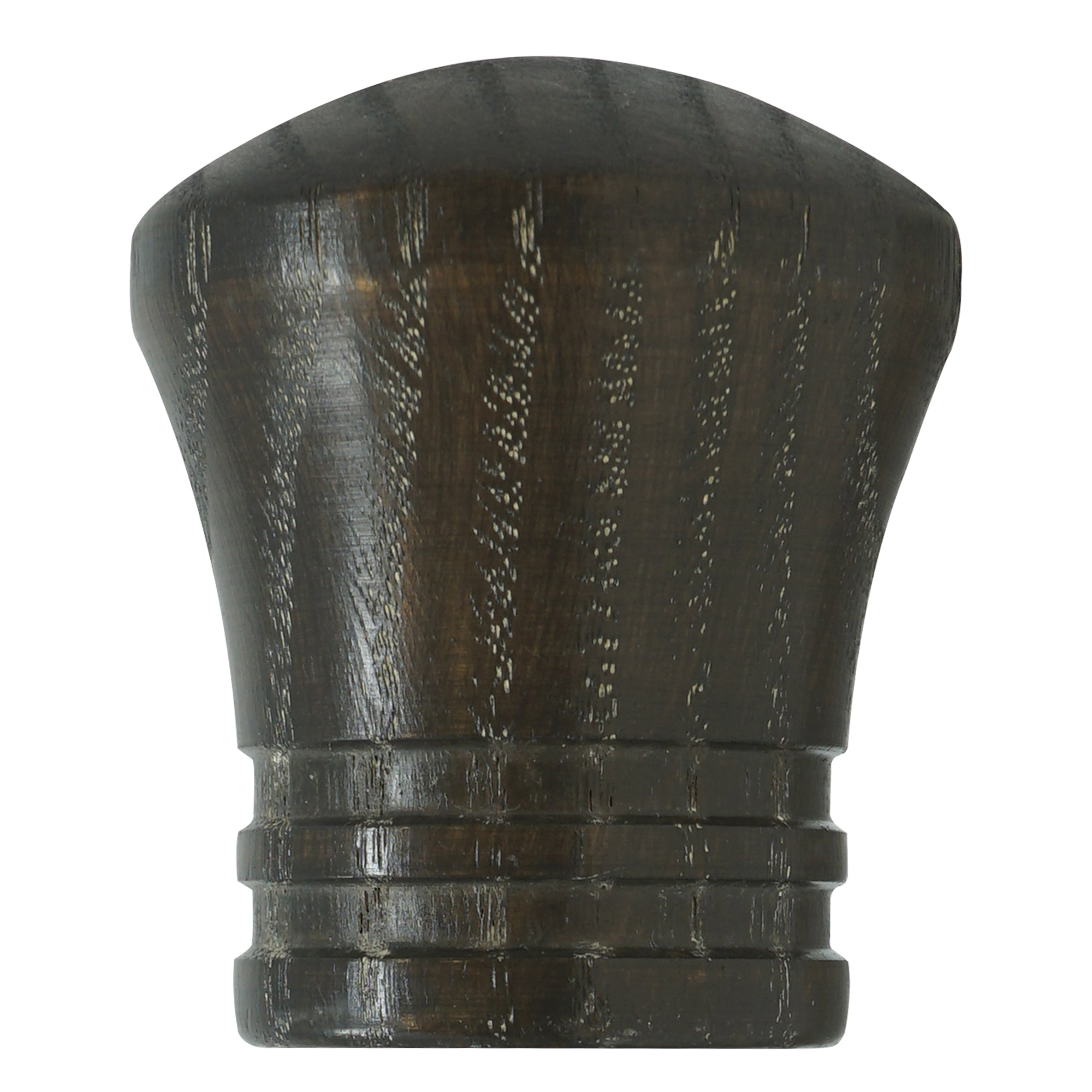 Wood Trumpet Finial - Charcoal Finish