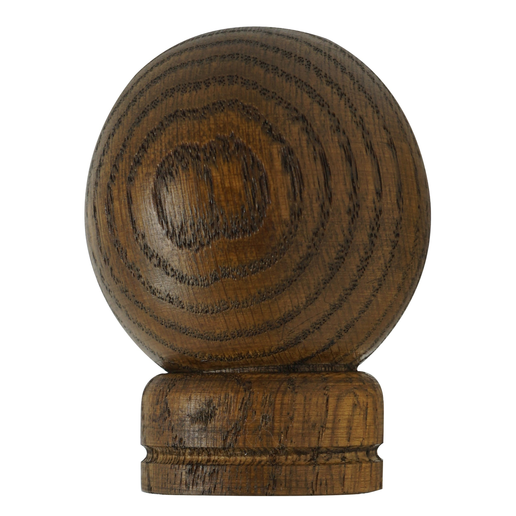 Wood Ball Finial - Cafe Finish
