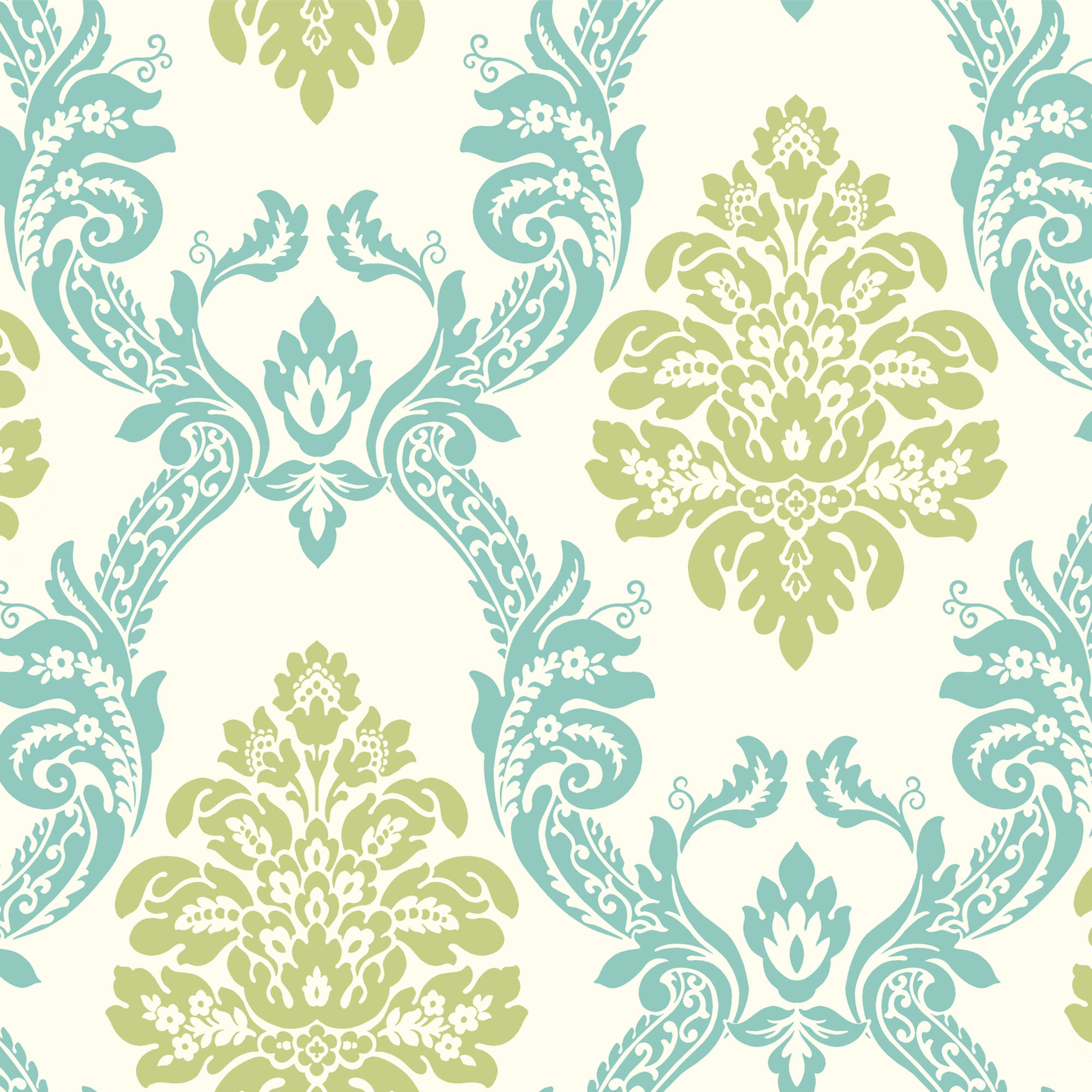 Pattern Play Ogee Damask Wallpaper