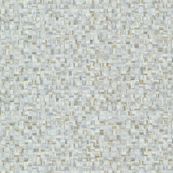 Sanaa Blue Paperweave Texture Wallpaper