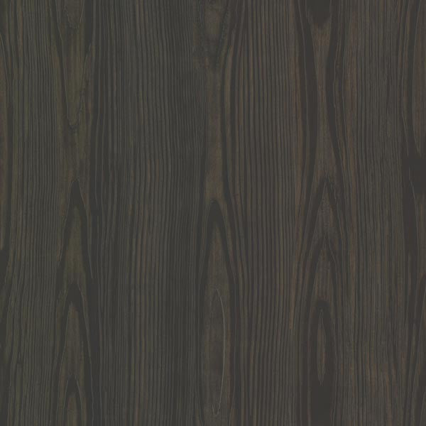 Tanice Black Faux Wood Texture Wallpaper