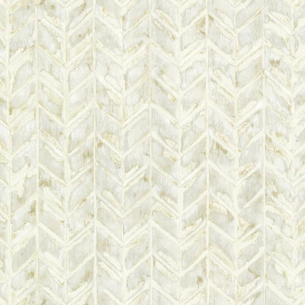 Foothills Cream Herringbone Texture Wallpaper