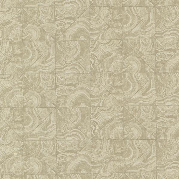 Malachite Beige Stone Tile Wallpaper