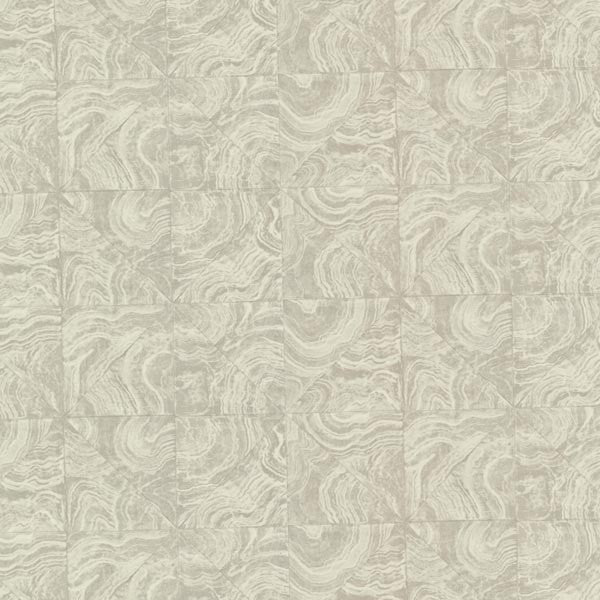 Malachite Grey Stone Tile Wallpaper