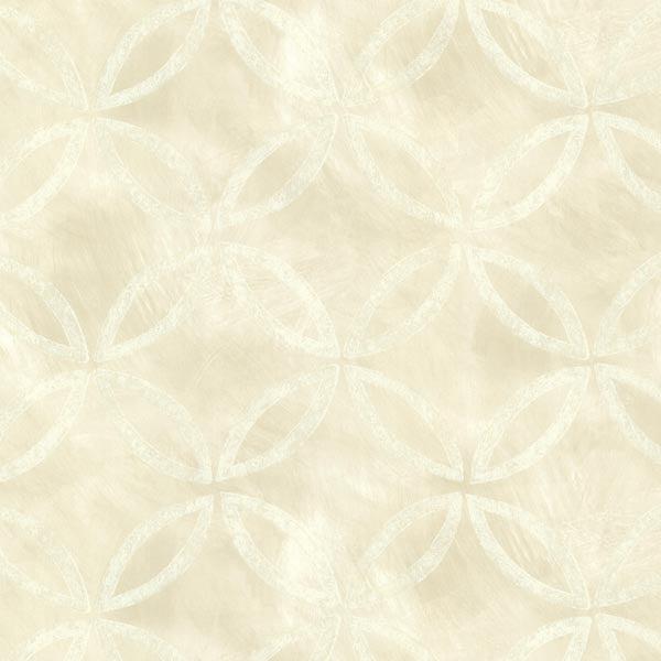 Cloverleaf Beige Geometric Wallpaper