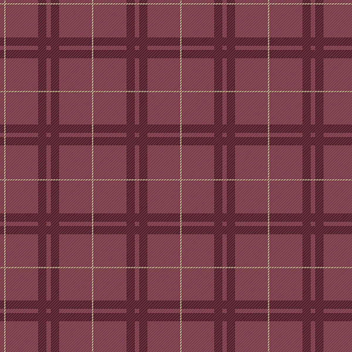 Hilary Red Plaid Wallpaper