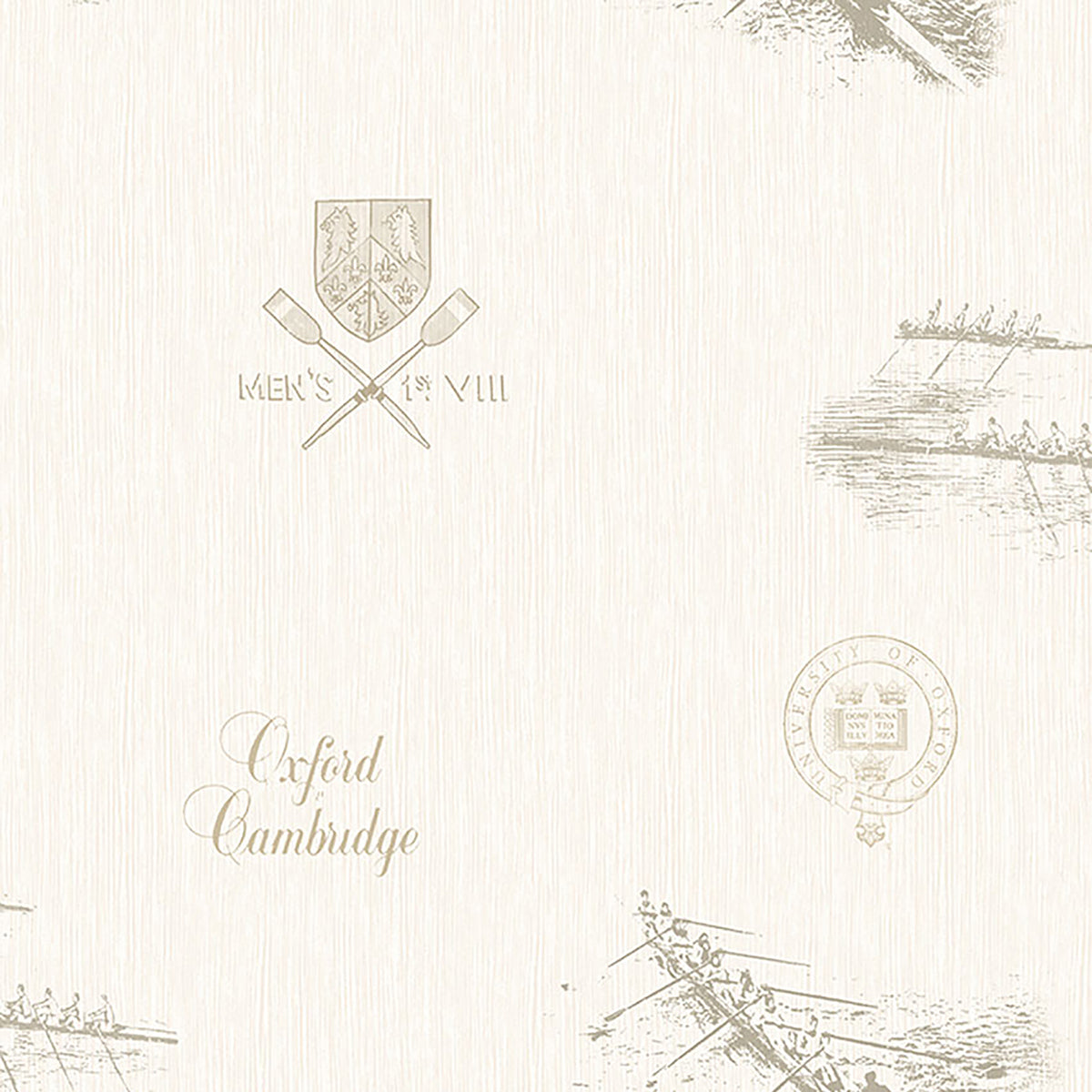 Varsity Grey Row Boat Wallpaper
