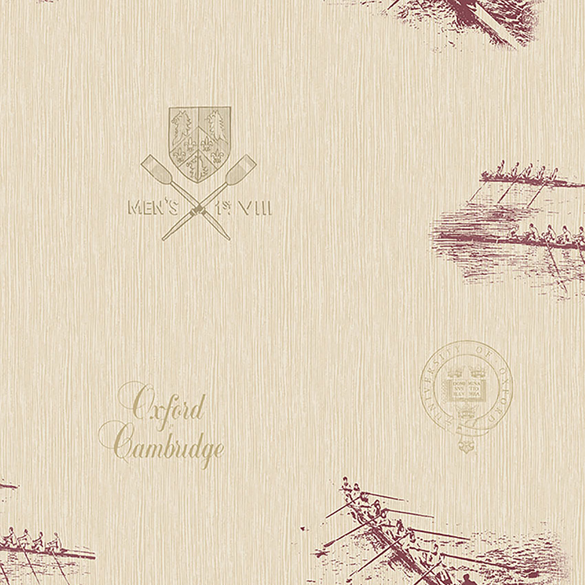 Varsity Maroon Row Boat Wallpaper